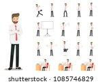 illustration of businessman...   Shutterstock .eps vector #1085746829