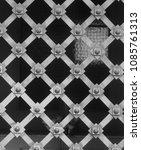 metal funerary fence | Shutterstock . vector #1085761313