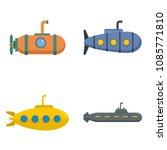 periscope submarine telescope... | Shutterstock .eps vector #1085771810