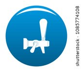 steel faucet icon. simple...   Shutterstock .eps vector #1085774108