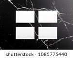 photo of white business cards... | Shutterstock . vector #1085775440