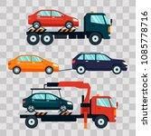 set of cars evacuating broken... | Shutterstock .eps vector #1085778716