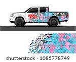 car livery vector. abstract... | Shutterstock .eps vector #1085778749