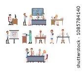 illustration of laboratory ... | Shutterstock .eps vector #1085784140
