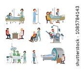 set of doctor and patient on... | Shutterstock .eps vector #1085784143