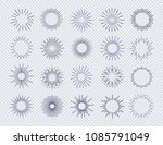 sunburst set isolated on... | Shutterstock .eps vector #1085791049