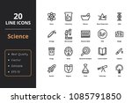 20 science line icon | Shutterstock .eps vector #1085791850