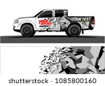 car livery vector. abstract... | Shutterstock .eps vector #1085800160