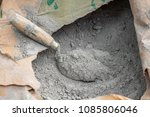 close up trowel and cement... | Shutterstock . vector #1085806046