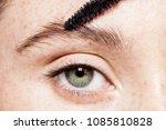close up of female blue eye... | Shutterstock . vector #1085810828