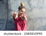 emotions portrait of funny... | Shutterstock . vector #1085810990