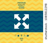 extend  resize icon. cross...   Shutterstock .eps vector #1085812298