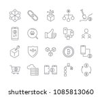 line icon set cryptocurrency... | Shutterstock .eps vector #1085813060
