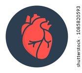 heart icon in flat style... | Shutterstock .eps vector #1085820593