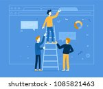 vector illustration in flat... | Shutterstock .eps vector #1085821463