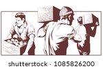 stock illustration. men with... | Shutterstock .eps vector #1085826200