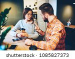 dissatisfied hipster girl with... | Shutterstock . vector #1085827373