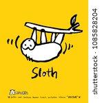 animal illustration   hand... | Shutterstock .eps vector #1085828204