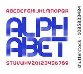 abstract modern alphabet... | Shutterstock .eps vector #1085833484