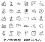 thin line icon set   leaf... | Shutterstock .eps vector #1085837600
