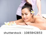 spa and thai massage  beautiful ... | Shutterstock . vector #1085842853