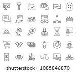 thin line icon set  ... | Shutterstock .eps vector #1085846870