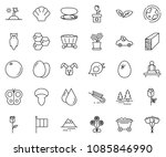 thin line icon set  ... | Shutterstock .eps vector #1085846990