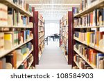 library setting with books and...   Shutterstock . vector #108584903