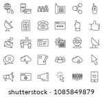 thin line icon set   web camera ... | Shutterstock .eps vector #1085849879