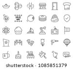 thin line icon set   factory... | Shutterstock .eps vector #1085851379