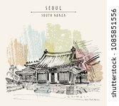 seoul  south korea  asia.... | Shutterstock .eps vector #1085851556