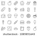thin line icon set   sausage... | Shutterstock .eps vector #1085851643