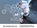business data analytics... | Shutterstock . vector #1085856956