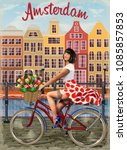 Amsterdam Vintage Poster.happy...