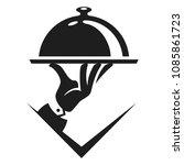 vector logo sign for food... | Shutterstock .eps vector #1085861723