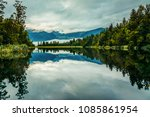 landscape reflection of lake... | Shutterstock . vector #1085861954