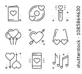 love line icons set. happy... | Shutterstock .eps vector #1085864630