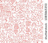 seamless pattern with love... | Shutterstock .eps vector #1085865353