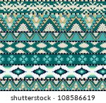 aztecs seamless pattern on cold ... | Shutterstock .eps vector #108586619