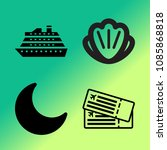 vector icon set about travel... | Shutterstock .eps vector #1085868818