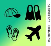 vector icon set about travel... | Shutterstock .eps vector #1085868950