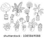 home plants flower graphic... | Shutterstock .eps vector #1085869088