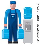 illustration of clean water... | Shutterstock .eps vector #1085874929