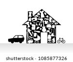 houses items appliances icon... | Shutterstock .eps vector #1085877326