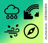 vector icon set about weather... | Shutterstock .eps vector #1085882804