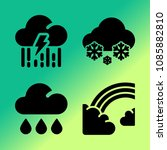 vector icon set about weather... | Shutterstock .eps vector #1085882810