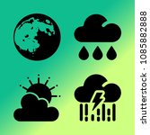 vector icon set about weather... | Shutterstock .eps vector #1085882888
