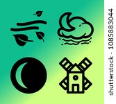 vector icon set about weather... | Shutterstock .eps vector #1085883044