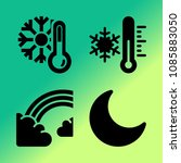 vector icon set about weather... | Shutterstock .eps vector #1085883050