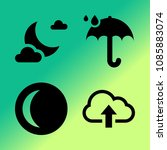 vector icon set about weather... | Shutterstock .eps vector #1085883074